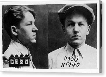 Bank Robber Canvas Print - Baby Face Nelson 1908-1934, Bank Robber by Everett