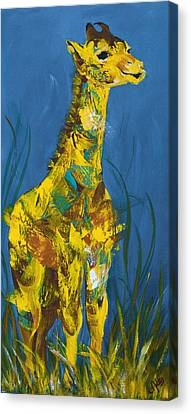 Baby Giraffe  Canvas Print by Catherine Jeltes