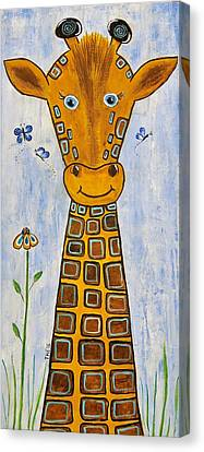 Baby Giraffe Canvas Print by Suzanne Theis