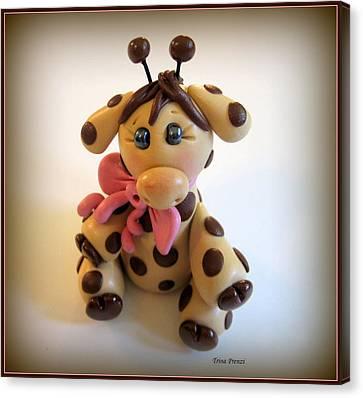 Baby Giraffe Canvas Print by Trina Prenzi