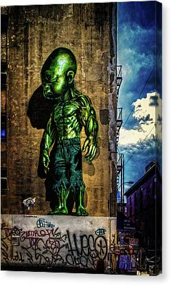 Canvas Print featuring the photograph Baby Hulk by Chris Lord