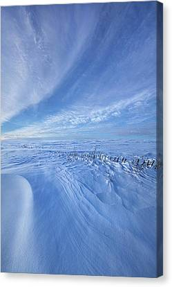 Canvas Print featuring the photograph Baby It's Cold Outside by Phil Koch