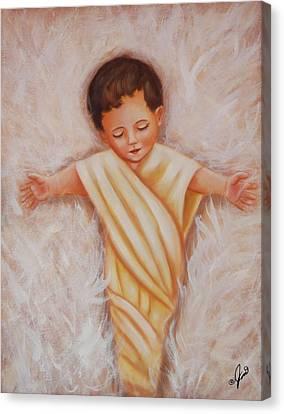 Baby Jesus Canvas Print by Joni McPherson