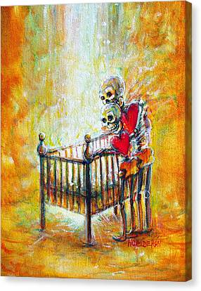 Canvas Print featuring the painting Baby Love by Heather Calderon