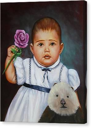 Baby Otter Canvas Print by Joni McPherson