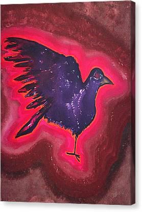 Baby Phoenix Original Painting Canvas Print by Sol Luckman