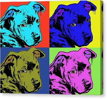 Baby Pit Face Canvas Print