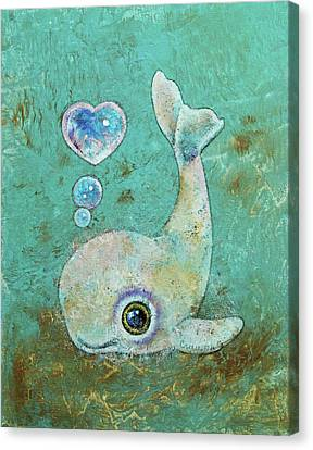 Baby Whale Canvas Print by Michael Creese
