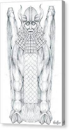 Babylonian Sphinx Lamassu Canvas Print by Curtiss Shaffer