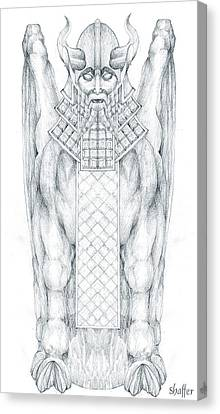 Babylonian Sphinx Lamassu Canvas Print