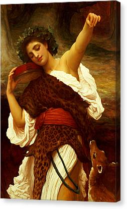 Outstretched Arm Canvas Print - Bacchante by Frederic Leighton
