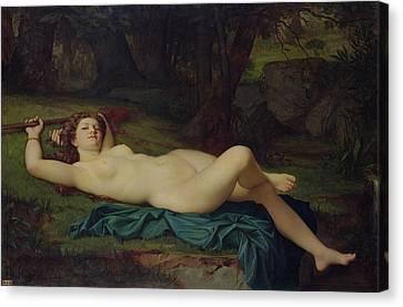 Bacchante Canvas Print by Pierre Honore Hugrel