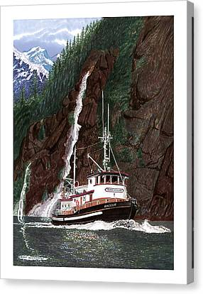 Baccus Yacht Tugboat Canvas Print