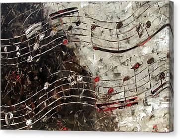 Bach Invention 13 Canvas Print by Debra Hurd