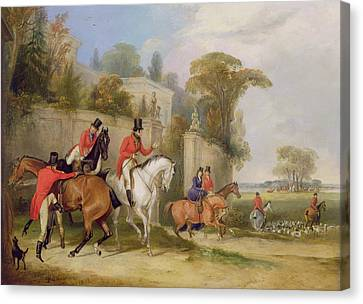Francis Canvas Print - Bachelor's Hall - The Meet by Francis Calcraft Turner