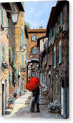 Baci Nel Vicolo Canvas Print by Guido Borelli