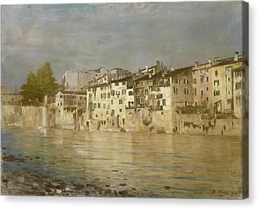 Bacio Di Sole A Verona Canvas Print by Bartolomeo Bezzi