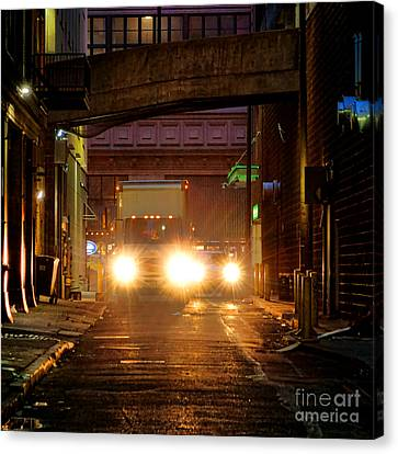 Back Alley Canvas Print by Olivier Le Queinec