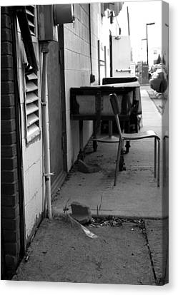 Back Alley View Canvas Print by Pam Walker
