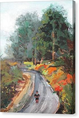 Back Bay Jogger Canvas Print