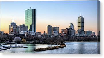 Canvas Print featuring the photograph Back Bay Sunrise by JC Findley