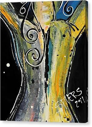 Back Bone Canvas Print by Amanda  Sanford