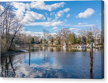 Canvas Print featuring the photograph Back Creek by Charles Kraus