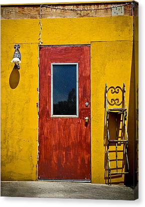 Back Door Canvas Print