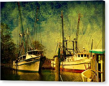 Back Home In The Harbor Canvas Print by Susanne Van Hulst
