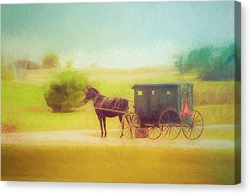 Canvas Print featuring the photograph Back In Time by Joel Witmeyer