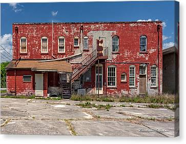 Canvas Print featuring the photograph Back Lot by Christopher Holmes