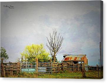 Canvas Print featuring the photograph Back Of Beyond by Wallaroo Images