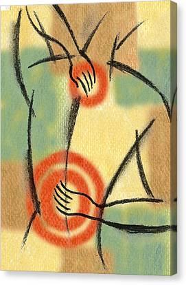 Back Pain Canvas Print by Leon Zernitsky