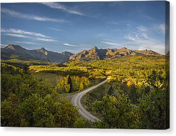 Back Road In Colorado Canvas Print