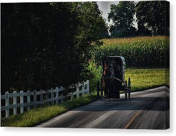 Back Roads In Lancaster Canvas Print by Tricia Marchlik