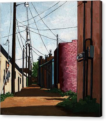 Back Street Alley City Painting Canvas Print