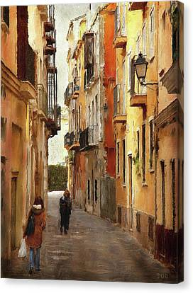 Back Streets Of Spain Canvas Print by Declan O'Doherty