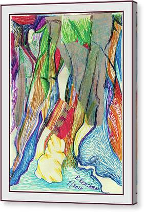 The Gathering Canvas Print by Ruth Renshaw