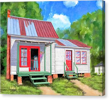 Canvas Print featuring the painting Back To Grandmother's Cottage by Mark Tisdale
