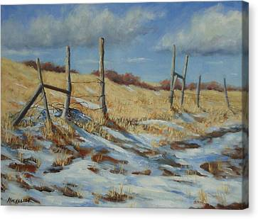 Back To Open Range Canvas Print by Debra Mickelson