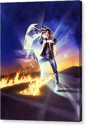 Back To The Future 1985 Canvas Print by Unknown