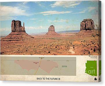 Back To The Future 3 Location, Doc Brown Western Canvas Print