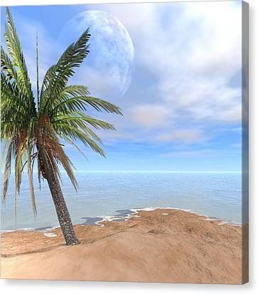Back To The Island Moon Canvas Print by Louis Ferreira