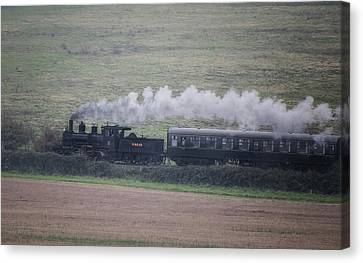 Labelled Canvas Print - Back To The Steam Days by Martin Newman