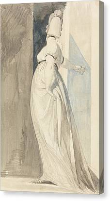 Back View Of A Standing Female Called Mrs. Fuseli Canvas Print by Henry Fuseli