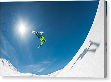 Backcountry Backflip Canvas Print by Eric Verbiest
