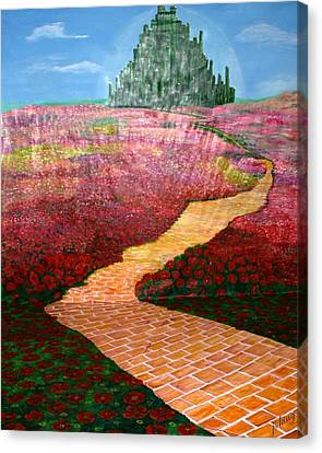 Backdrop For Wizard Of Oz Canvas Print by Jacquie King