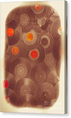 Disk Canvas Print - Background Music by Jorgo Photography - Wall Art Gallery