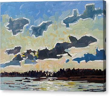Backlit Singleton Stratocumulus Canvas Print by Phil Chadwick