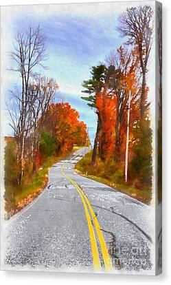 Backroads Vermont Canvas Print by Edward Fielding